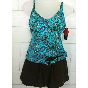 Style & Co 8 Tankini Swim Suit